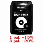 LIGHT-MIX, 50L, ZIEMIA KWIATOWA, BIOBIZZ, 1 paleta=65 worków