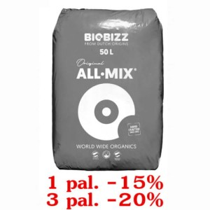 ALL-MIX, 50L, ZIEMIA KWIATOWA, BIOBIZZ, 1 paleta=65 worków
