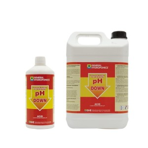 PH DOWN, PŁYN,   5L, REGULATOR OBNIŻAJĄCY pH, GENERAL HYDROPONICS - GHE