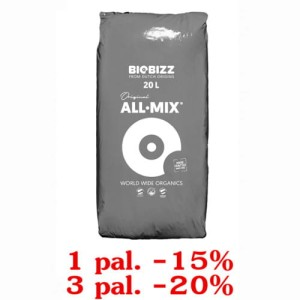 ALL-MIX, 20L, ZIEMIA KWIATOWA, BIOBIZZ, 1 paleta=120 worków