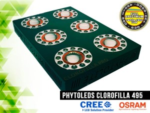 LAMPA LED, CLOROFILLA 495W, LED CREE CXB3070 COB +  LED Osram SSL80, do uprawy roślin