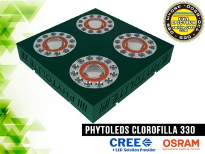 LAMPA LED, CLOROFILLA 330W, LED CREE CXB3070 COB +  LED Osram SSL80, do uprawy roślin
