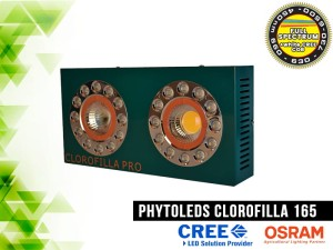 LAMPA LED, CLOROFILLA 165W, LED CREE CXB3070 COB +  LED Osram SSL80, do uprawy roślin