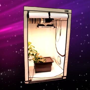 Growbox Zestaw Hps Profesjonalny Do Uprawy Roślin 80x80xh160cm Hps 250w 064m2